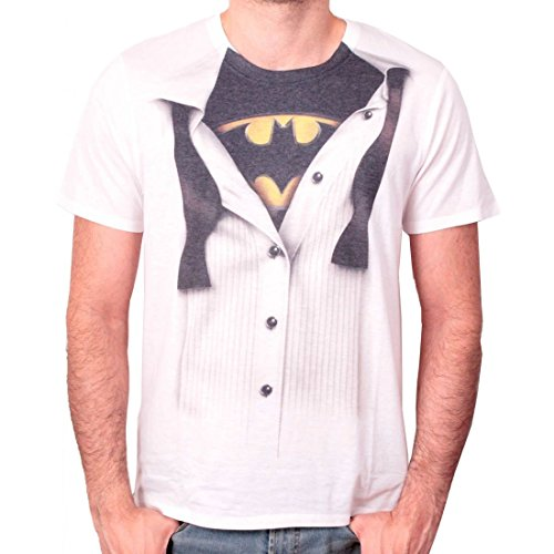 Batman Blouse T-Shirt weiß M