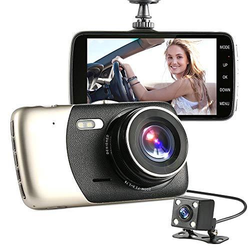 Preisvergleich Produktbild ZYG.GG Dashcam Autokamera,  4Inch Bildschirm 170 ° Weitwinkel,  FHD 1080P Recorder Fahren,  mit G-Sensor,  WDR,  Bewegungserkennung,  Nachtsicht,  Daueraufnahme