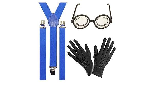 Goggle Despicable Yellow Set Fancy Dress Minions Braces Glasses Gloves Kit 3pc