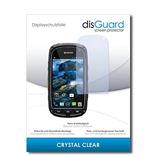 disGuard® Bildschirmschutzfolie [Crystal Clear] kompatibel mit Kyocera Torque [4 Stück] Kristallklar, Transparent, Unsichtbar, Extrem Kratzfest, Anti-Fingerabdruck - Panzerglas Folie, Schutzfolie