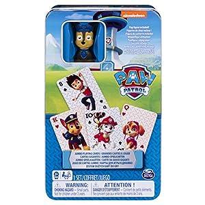 Paw Patrol Jumbo Cards in Tin with Figurine - Juegos de Cartas (6 año(s), Paw Patrol, Niños y Adultos, Niño/niña, China, 112,3 mm)
