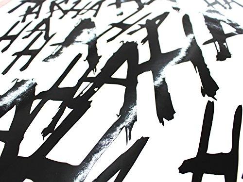 Finest-Folia Grafik Schriftzug Hahaha Groß Joker Batman Aufkleber Sticker Tuning Folie (Glanz Schwarz 070)