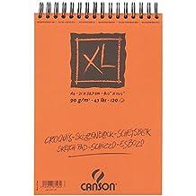 Canson XL/787103 - Cuaderno de dibujo (DIN A4, 90 g/m2, 120 hojas), color blanco