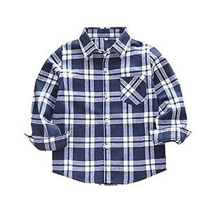 Camisa Manga Larga para Niño,Subfamily Camisetas de Manga Larga Bebé Camisa Plaid Manga Larga Infantil de 18 Meses a 10… 1
