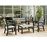 Koll Living Lounge Set/Möbelset/Sitzgruppe in rustikaler Holzoptik - Modell 2017 - UV - und witterungsbeständig