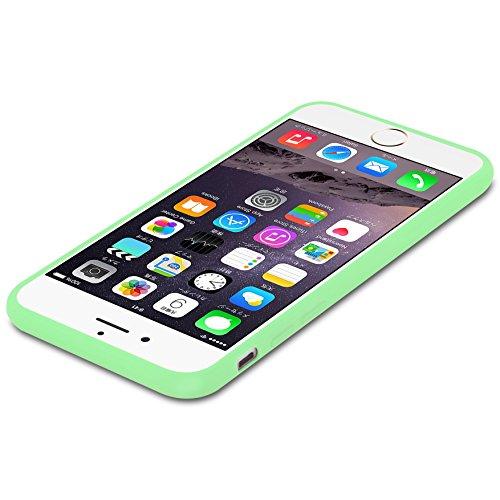 Cadorabo - Ultra Slim TPU Candy Etui Housse Gel (silicone) pour Apple iPhone 6 / 6S - Coque Case Cover Bumper en CANDY-BLEU-FONCÉ CANDY-VERT-PASTEL