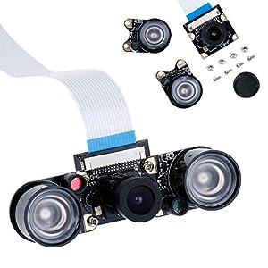51IYixwcVqL. SS300  - Zacro Módulo de Cámara con Sensor Cámara de Vídeo de HD Soporte Visión Nocturna para Raspberry Pi 3 Modelo B B + A + RPi 2 1 Cámara SC15