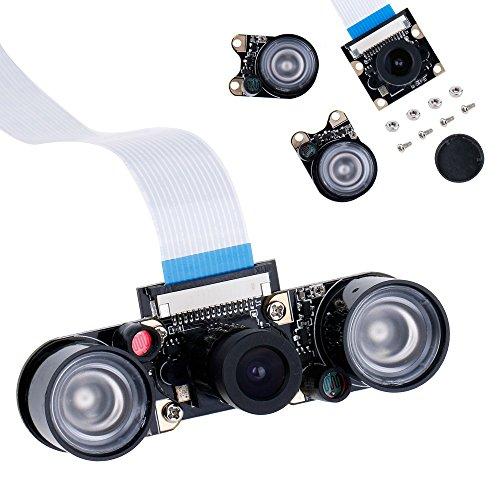 51IYixwcVqL - Zacro Módulo de Cámara con Sensor Cámara de Vídeo de HD Soporte Visión Nocturna para Raspberry Pi 3 Modelo B B + A + RPi 2 1 Cámara SC15