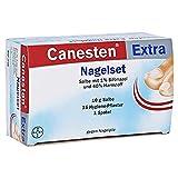 Canesten Extra Nagelset Spar-Set 2 x Effektiv gegen Nagelpilz 10 g Salbe, 15 Hygiene-Pflaster, 1 Spatel