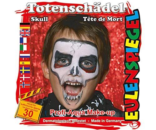 Festlegen Von Farben Für Gesicht - Schädel, Eulenspiegel, EU-204139 (Einfache Gesicht Halloween Schädel Malen)