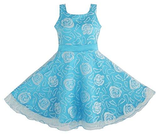 Sunboree Mädchen Kleid Blau Rose Hochzeit Festzug Gr.128-134