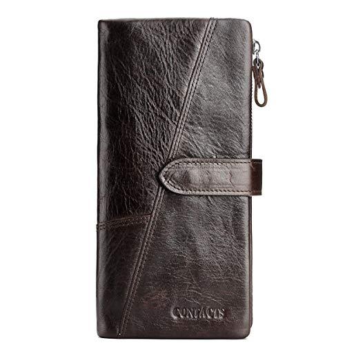 WNLZL Herrenbrieftasche aus echtem Rindsleder Brieftasche aus weichem Leder Unisex-Kartenhalter aus Rindsleder Organisieren Sie für den Valentinstag Vatertag,3 -