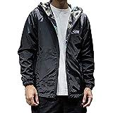TEBAISE Herren Regenjacke Windbreaker Outdoor Jacke mit Kapuze Wasserdicht Atmungsaktiv Winddicht Laufjacke Männer Outdoorjacke(Y-Tarnung,EU-50/CN-L)