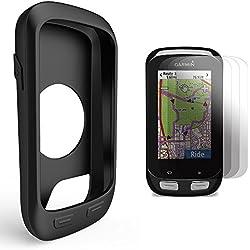 Garmin Edge 1000 Approach G8 Funda de Silicona + Protector de Pantalla, TUSITA® Paquete de Protección de Reemplazo Funda Suave Accesorios para Garmin Edge 1000 GPS Bike Computer (Negro)