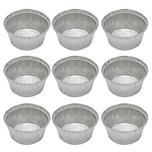 Bestonzon Einweg-Aluminium-Tart-Pie-Pads, rund, Backformen für Quiche, Party, Potluck, Catering, 285 ml (ohne Deckel) Aluminium Pie Pan
