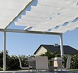 SET Seilspannmarkisen-Sonnensegel weiß 270x140cm + Montagematerial für Pergola, Wintergarten, Glasdach, Terrasse