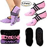 Women's Non Slip Ballet Grip Socks is all this and more! Ideal for not only yoga, but also pilates, barre, bikram and ballet dance. Perfect for home, travel, studio ,bed ,working and hospital use too.We think you will love it!  Feature: 1.Unique desi...