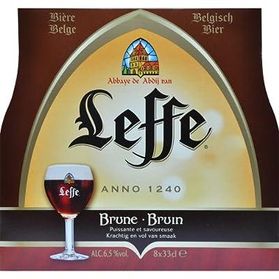 Original Belgisches Bier - Leffe Braun obergäriges Klosterbier aus Belgien, 8 Flaschen 330 ml.