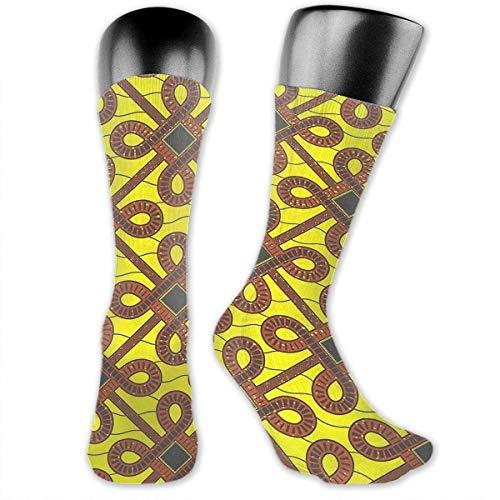 Nakamya African Inspired Wax Print Pattern Unisex Crew Socks Cute Socks Dress Socks Boot Socks Crazy Socks red Socks - Crew Print Crew Socks