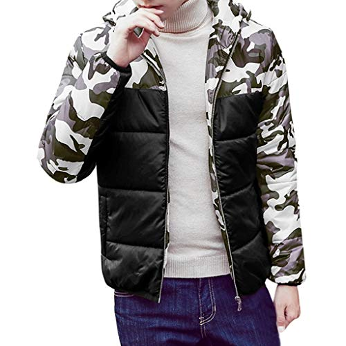 Luckycat Mens Herbst Winter Camouflage Print Pullover Langarm mit Kapuze Tops Bluse Mode 2018