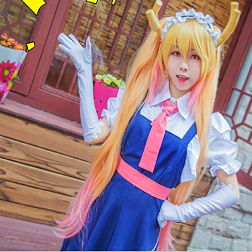Kostüm Drachen Magie Kind - Kobayashi's Dragon Maid Schwester Shaking Dragon Tol Maid Kostüm COS Kleidung mit Zubehör Perücke