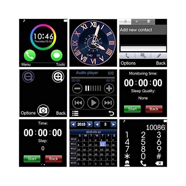 GT08 Bluetooth SmartWatch SmartWatch con Ranura para Tarjeta SIM y la cámara de 2.0 megapíxeles para el iPhone/Samsung y… 4