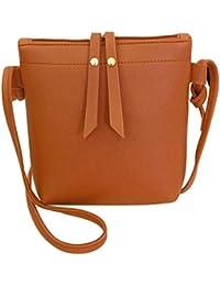 Jokereader PU Leather Women Small Messenger Bags Pure Casual Zipper  Shoulder Handbags Change Coin Purse Phone 0a883c0798107