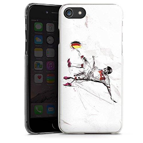 Apple iPhone X Silikon Hülle Case Schutzhülle Fußball Zeichnung sport Hard Case transparent