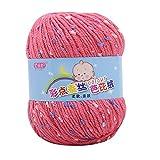 LCLrute 50g Baby Wolle Babywolle zum Stricken Hand Stricken Knicker Garn häkeln weiche Schal Pullover Hut Garn Strickwolle (E)