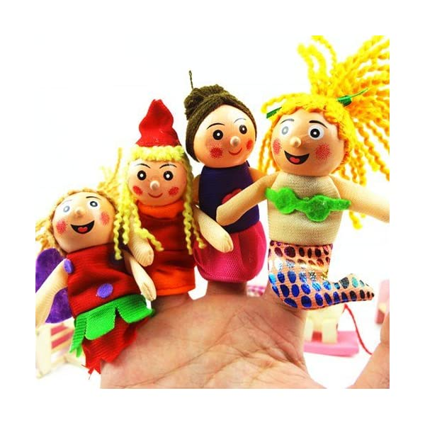 Kuhu Creations® Supreme Finger Puppets Baby Story Telling Toys. (10 Pcs, Marine Sea.10)