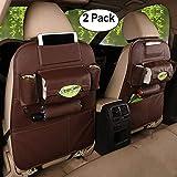HCMAX 2 Pack Auto-Rückenlehnenschutz Autositz zurück Veranstalter Tasche Rücksitz Schutzaufbewahrung Trittmatte Ipad Mini Halter Großes Reisezubehör