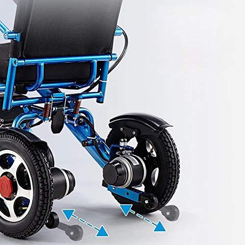 51IYoTrTpQL - ZXCASD La Silla De Ruedas Eléctrica Más Fuerte Batería Litio De Cuatro Motores 24 Kg Ancianos Discapacitados Scooter Plegable Portátil Marco De Aluminio