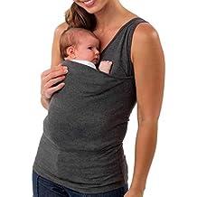 SOMESUN Babytragetuch Kindertragetuch Tragetuch Tragehilfe Bio-Baumwolle für Früh- und Neugeborene Kinder Papa Herren Multifunktionale Kangaroo Baby Carrier Holder T-Shirt Frauen Weste