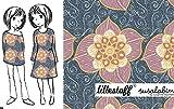 Lillestoff - Blumenranke - Modal Sommer ROSA Bio Magazin