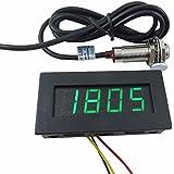 digiten velocidad 4Digital LED verde tacómetro RPM Meter + Hall Sensor de interruptor de proximidad NPN