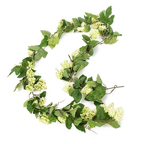 artplants - Künstliche Hopfen Girlande KRATEOS, grün, 130 Blätter, 60 Dolden, 200 cm - Bier Ranke/Deko Pflanzen Hänger