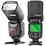 K&F Concept Flash per Nikon Reflex Speedlite i-TTL NG56 Secondario S1/S2 Wireless con Display LCD ¡­