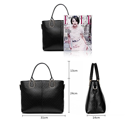 FavoMode, Borsa a mano donna rosso Burgundy Handbag taglia unica Rose Handbag