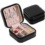 Contenitore di monili, scatola di immagazzinaggio dei monili di viaggio del contenitore di monili semplice europeo e dell'America di viaggio - nero -10 * 10 * 5.5cm