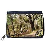Portemonnaie Geldbörse Brieftasche // M00157223 Bench Wald Baum Bäume Ast // Purse Wallet