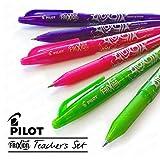 Pilot Frixion Radierbarer Tintenroller–Lehrerset – rosa, violett und limonengrün – 6er-Pack