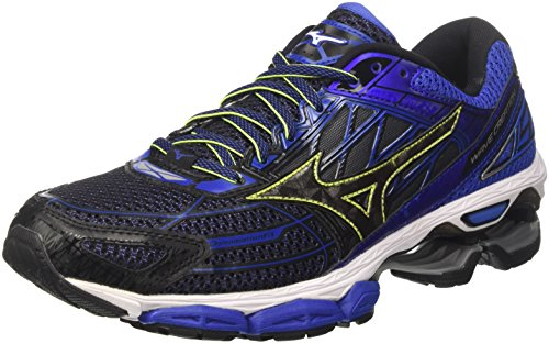 Mizuno Wave Creation 19, Scarpe da Running Uomo, Multicolore Black/Dazzlingblue, 42.5 EU
