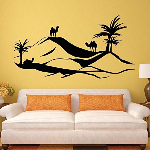 guijiumai DIY Vinyltapete Camel Aufkleber Wild Animal Sticker Poster Vinyl Wall Decals Decor Wandbild Wild Animal Sticker rot 40 x 75 cm (Scotts Rasenmäher)