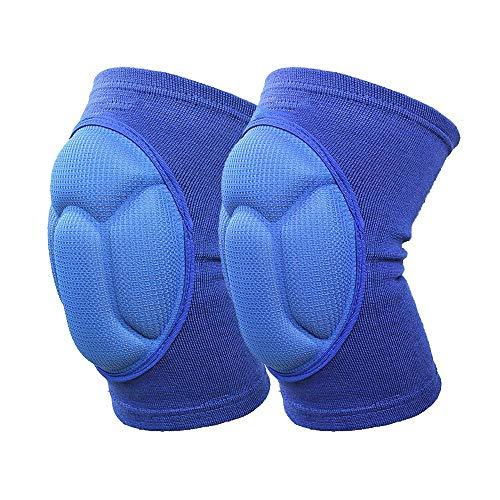 Kneepad Verdickungs-Kniepolster-Fußball-Volleyball-Extremsport-Knie-Auflage Eblow-Klammer-Unterstützungs-Schoß schützen radfahrendes Knieschutzmotorrad (Color : A-1 Blue)