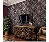 Tapetenbahn, 3D Stereo Simulation Leder Soft Bag Tapete Tv Hintergrund Wand Zimmer Wohnzimmer Porch Pvc-Tapete, Rot