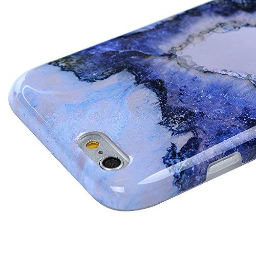 "YOKIRIN Silikonhülle für iPhone 6 Plus/6S Plus (5.5"") Premium Marmor TPU Silikon Case Cover Handyhülle Handytasche Etui Handycase Flexible Transparent Rahmen Rutschfest Kratzfest Farbmalerei IMD Proze Sapphire"