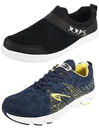 [Sponsored]Vadalo Men's Combo Pack Of 2 Red & Black Running Shoes (Sport Shoes)