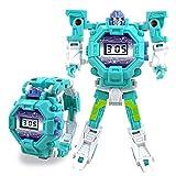 FOONEE Kids Digital Electronic Watch Cum Robot Toys (Green, 3-12 Years)