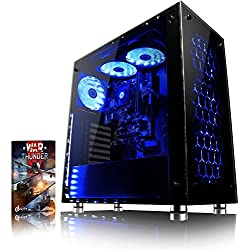 VIBOX Nebula GL770-28 PC Gaming Computer con Voucher di Gioco (4,6GHz Intel i7 6-Core Coffee Lake Processore, Nvidia GeForce GTX 1070 Scheda Grafica, 16GB DDR4 RAM, 240GB SSD, 1TB HDD, Senza OS)