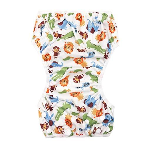 51926a31a Heaviesk Bebé Lavable Unisex Ajustable Nadar Pañal Pantalón de Piscina  Impermeable Bebé Reutilizable Entrenamiento Bañador con